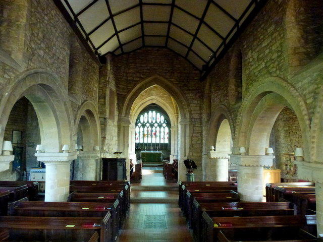 St. Faith's church, Overbury; nave