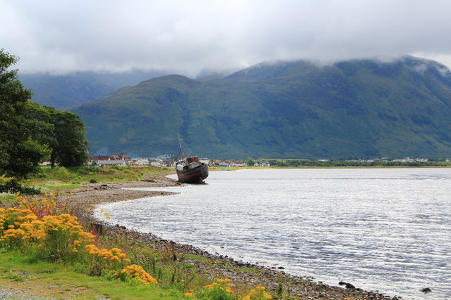 The abandoned fishing boat near Corpach