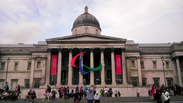 Paralympic logo on the National Gallery