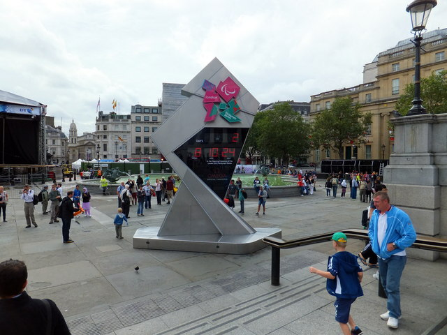 Olympic Clock, Trafalgar Square, London