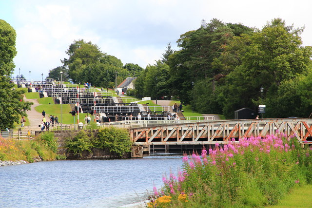 Banavie rail bridge and Neptune's Staircase