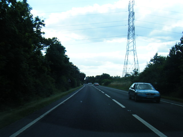 A534 looking south with pylon