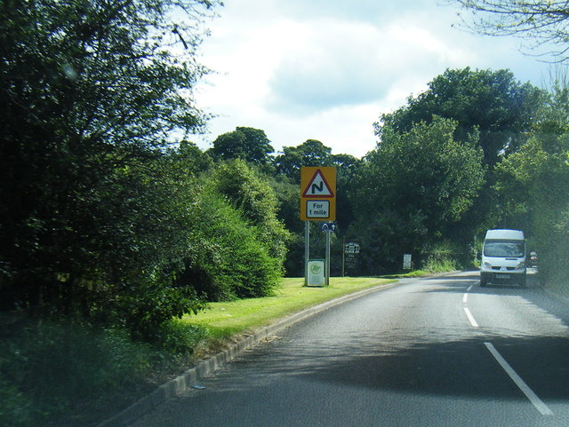 A525 at Bar Hill