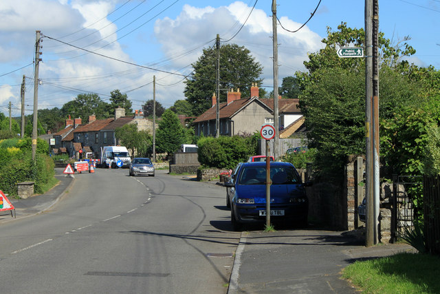 2012 : A368 Roadworks on Wick Road, Bishop Sutton