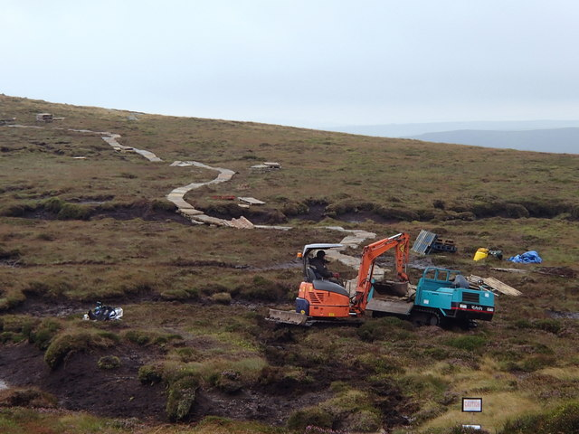 Footpath works towards Grindslow Knoll