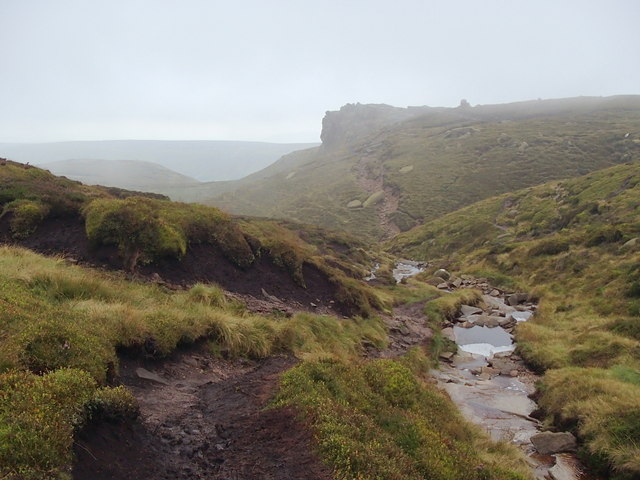 Crowden Brook towards Crowden Tower