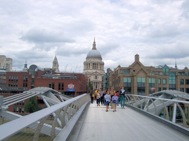 St Paul's Cathedral from Millennium bridge
