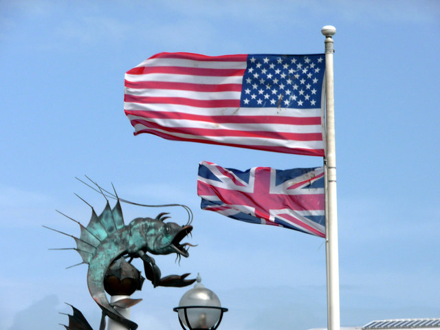 Flags Flying, Plymouth Harbour, Devon