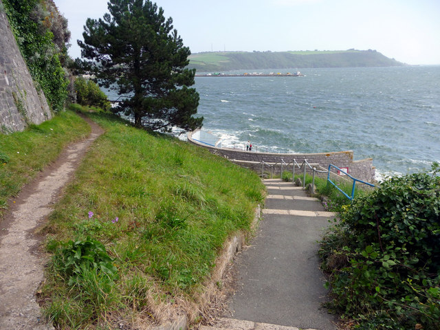 Pathway to Men's Bathing Area, Plymouth, Devon