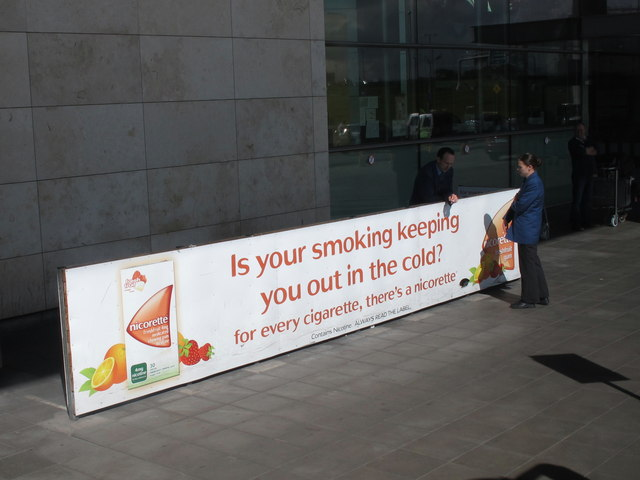 Smoking area, Cork Airport terminal
