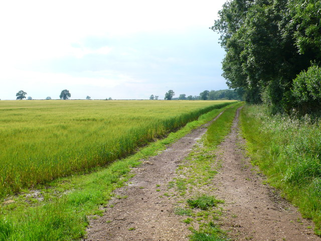 Track near Oxwold House