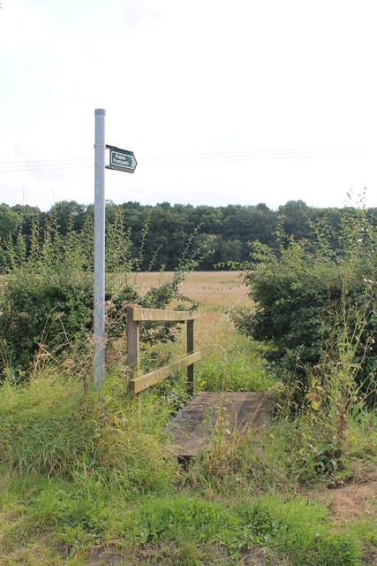 Footpath towards the B6403