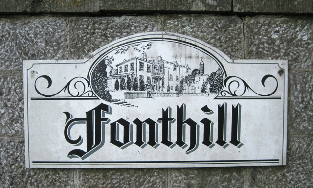 Sign for Fonthill