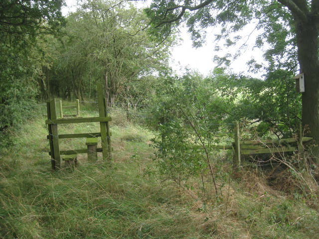 Two stiles on Barrier Bank