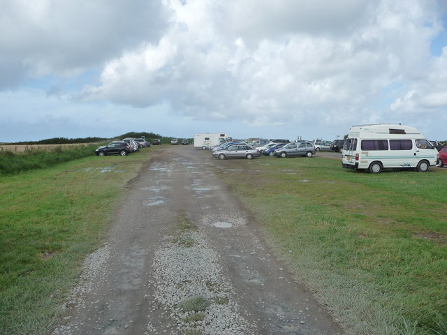 Part of the National Trust cliff top car park in Morfa Nefyn