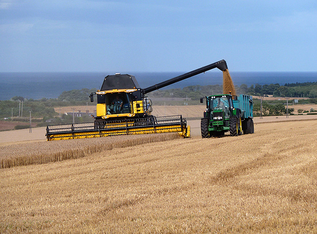 Combining at Wester Broomhouse