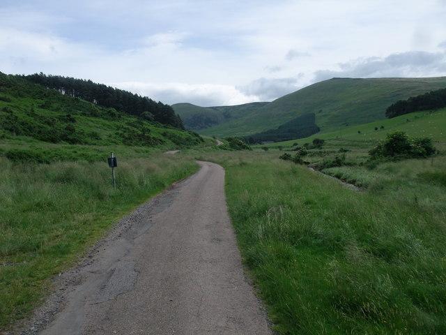 Track along the Elsdon Burn valley