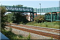 ST3561 : Railway footbridge, Weston-super-Mare by John Grayson