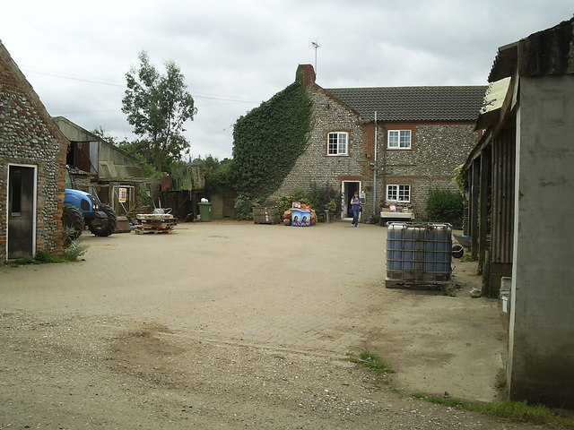 Breck farm, farmhouse and farmyard