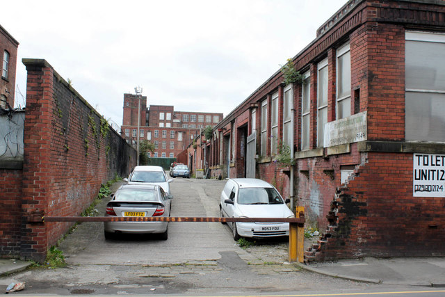 Bolton Textile Mill No.2, former side yard
