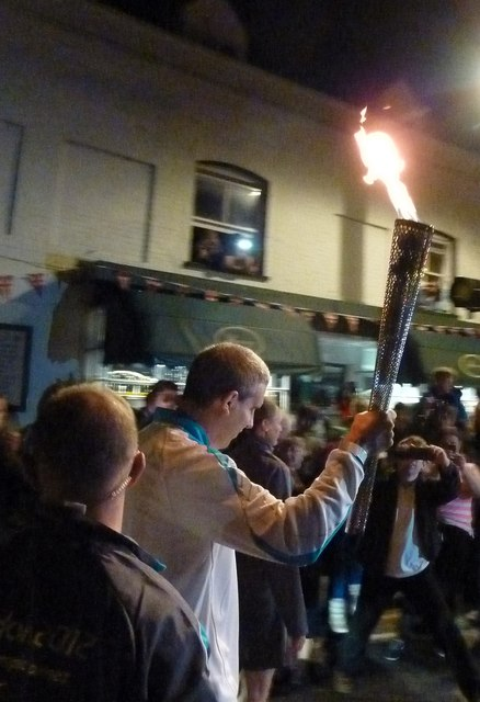 Tring - The Paralympics Torch in the High Street