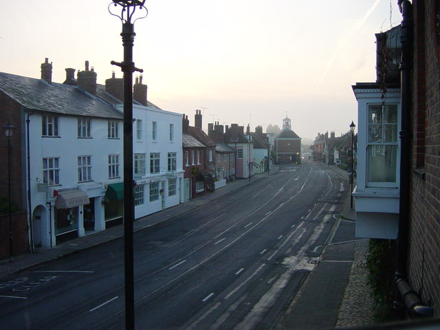 Amersham High Street as few see it