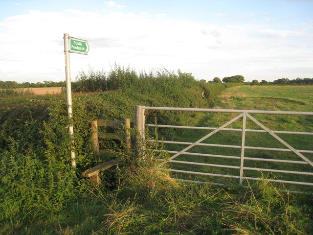 Signpost and stile