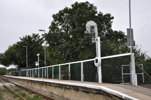 The platform at Winchelsea Station