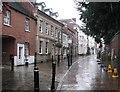 SP2864 : Heavy rain in Castle Street by John Sutton