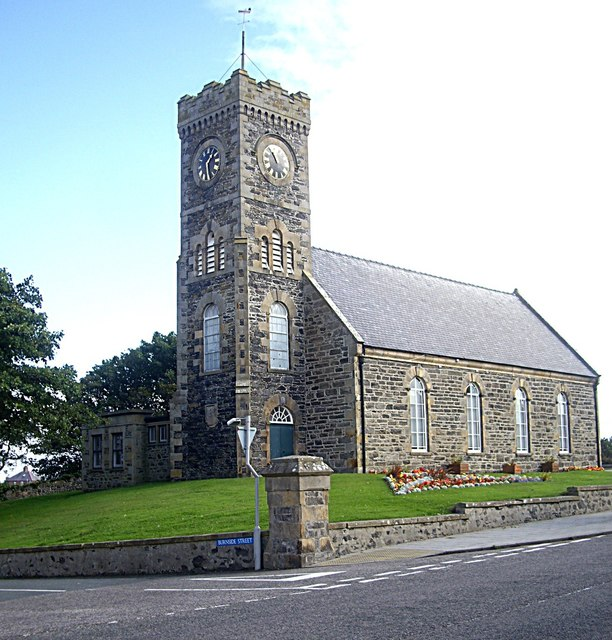 Church Hall with clock tower