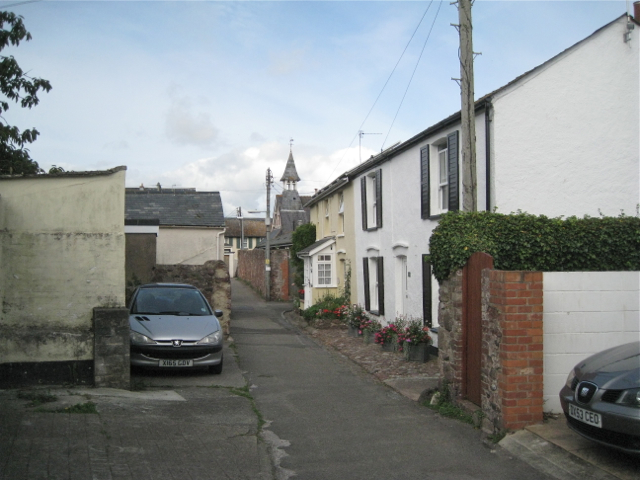 School Lane looking west