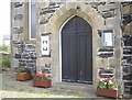 NJ5865 : West door of the Episcopal Church, Portsoy by Stanley Howe