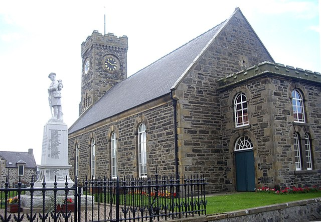 War Memorial, Church Hall and Clock Tower
