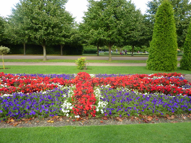 Union Jack floral display in Regent's Park, London