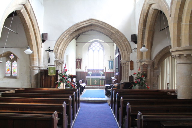 Interior, St James' church, Skillington