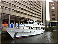 TQ3380 : Motor yacht in St Katharine's Dock by Andrew Abbott