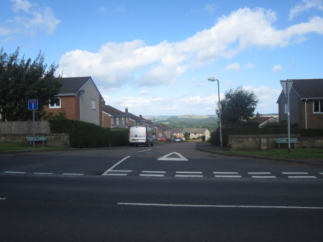 Entrance to Chapel Lands Housing Estate, Alnwick
