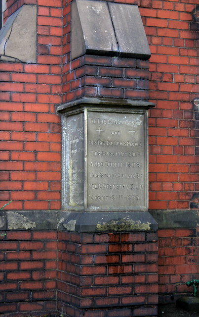 Foundation stone, St Philip's Church