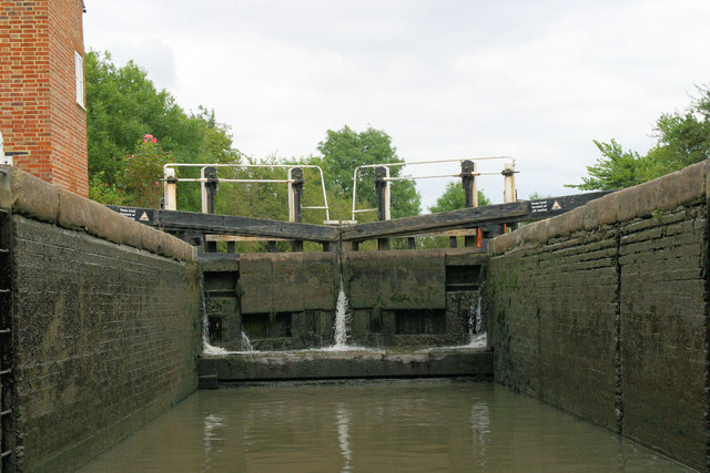 Inside Braunston Lock Number 2