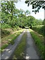 SO3992 : Narrow lane to Adstone by Richard Law
