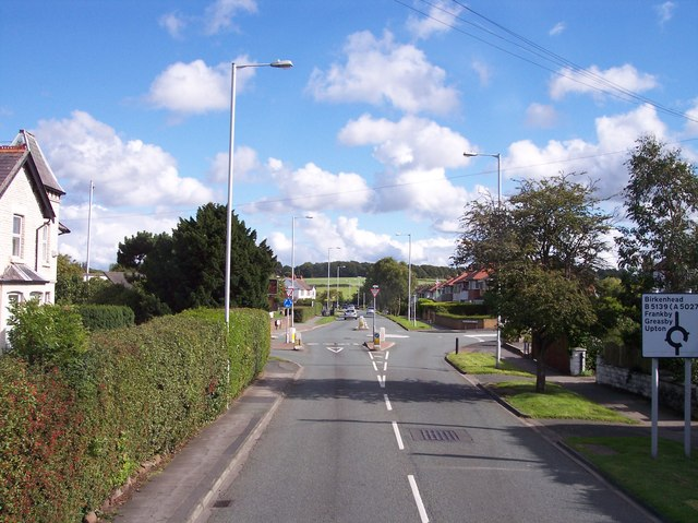 Frankby Road crossroads at Newton