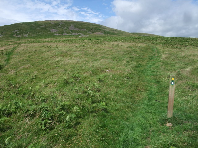 The Hillfort Trail up the south flank of Yeavering Bell