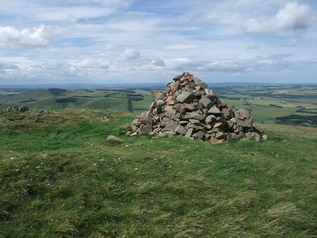Summit cairn on Yeavering Bell