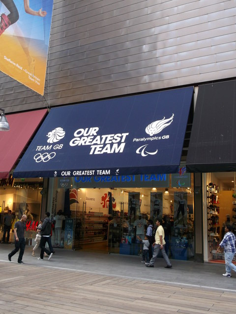 Team GB Supporters Shop, Westfield Shopping Centre