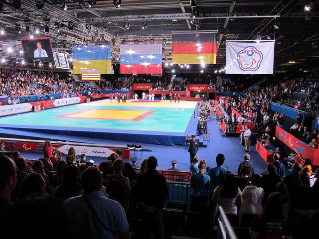 Paralympics judo medal ceremony