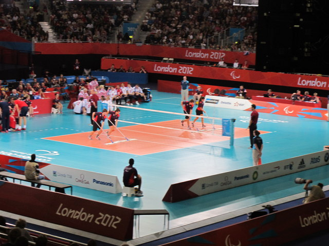Paralympics sitting volleyball - polishing the pitch