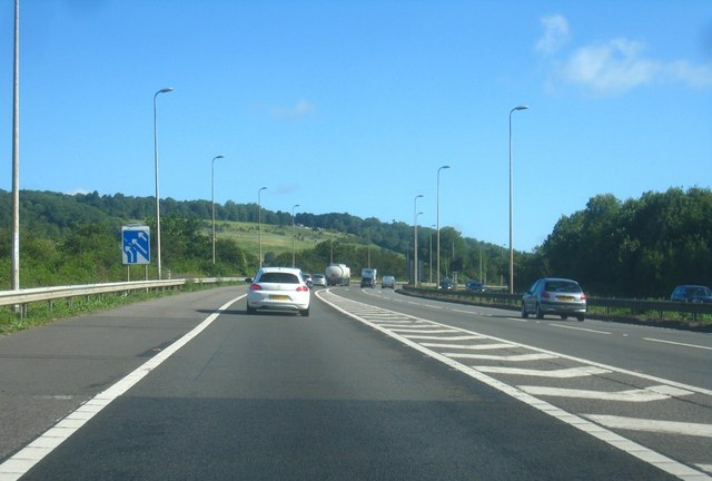 M25 at junction 5 (Anticlockwise)