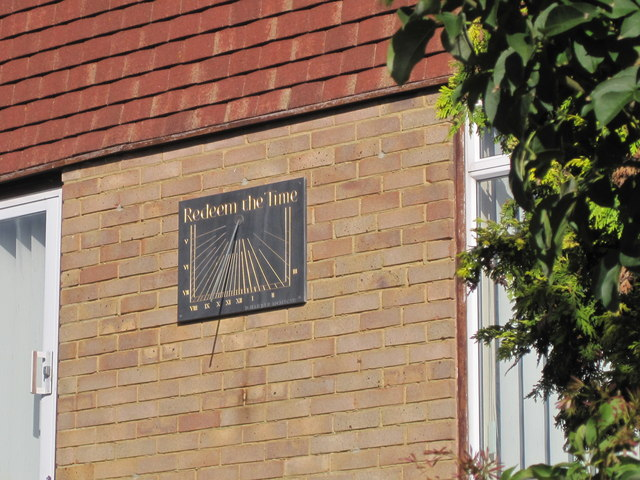 Sundial on Rodmill Drive, Eastbourne