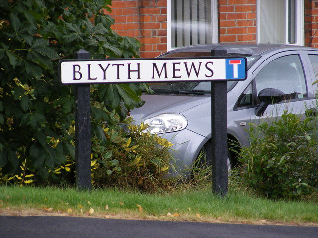Blyth Mews sign