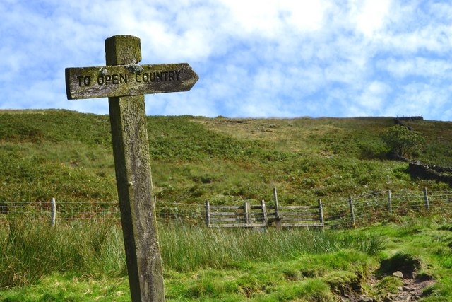"""To Open Country"" sign near Crowden"
